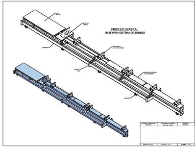 Detalles constructivos para skip de bomba lineal, en Equipos de bombeo – Máquinas instalaciones