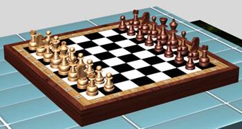 Diseño de tablero de ajedrez en 3d, en Juegos – Muebles equipamiento