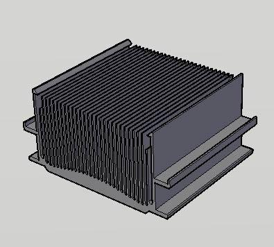 Planos de Disipador 3d, en Componentes 3d – Electrónica