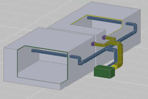 imagen Distribucion de aire acondicionado, en Aire acondicionado - Climatización
