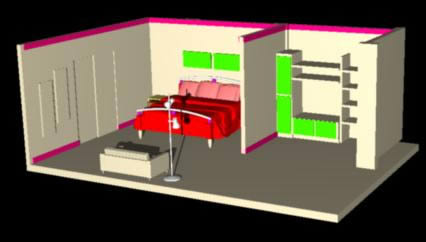 Planos de Dormitorio master, en Dormitorios – Muebles equipamiento
