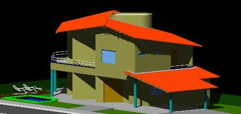 Planos de Dos plantas – vivenda dois pavimentos 3d, en Vivienda unifamiliar 3d – Proyectos
