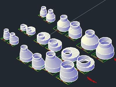 Planos de Drain conexion 3d, en Tubos y elementos de pvc – ppn – fofo – etc – Sanitarios