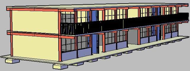 Planos de Edificio 3d, en Vivienda multifamiliar – condominios – Proyectos