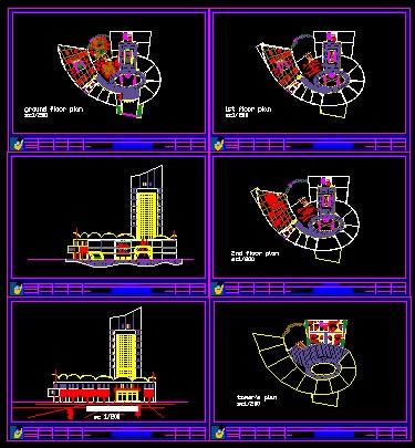 Planos de Edificio comercial, en Centros comerciales supermercados y tiendas – Proyectos
