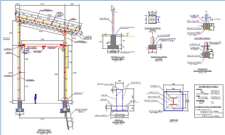 imagen Edificio con estructura metalica, en Depósitos almacenes y bodegas - Proyectos