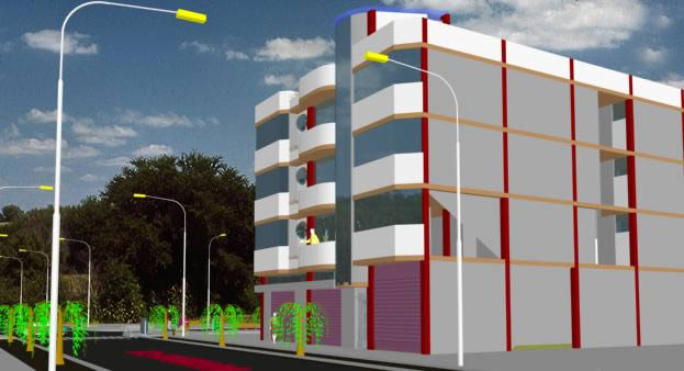 Edificio de departamentos 3d, en Vivienda multifamiliar – condominios – Proyectos