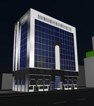 Edificio de oficinas 3d, en Oficinas bancos y administración – Proyectos