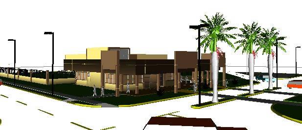Planos de Edificio en 3d – centro comercial, en Comercios varios – Proyectos