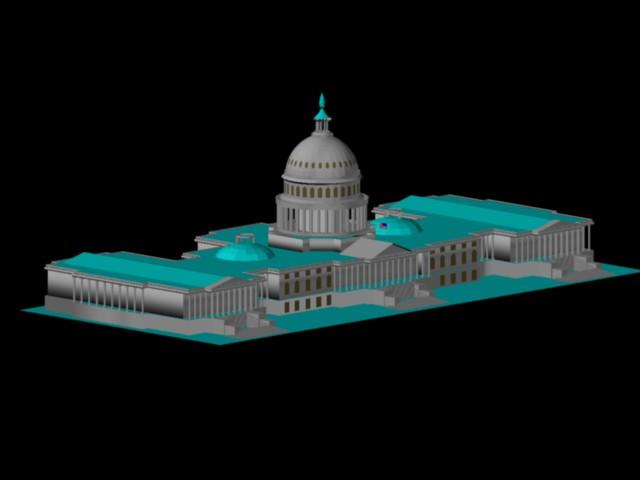 Planos de Edificio historio gubernamental: capitolio 3d, en Edificios varios – Historia