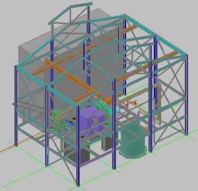 Planos de Edificio molino planta de cal, en Industria minera – Máquinas instalaciones