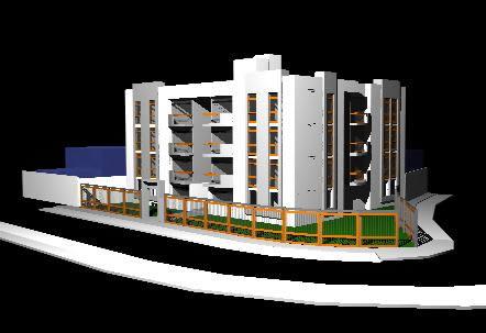 imagen Edificio multifamiliar 3d, en Perspectivas - Dibujando con autocad