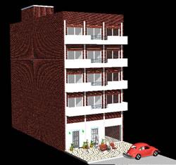 Planos de Edificio multifamiliar rivadavia en 3d, en Vivienda multifamiliar – condominios – Proyectos