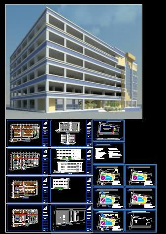 Planos de Edifico comercial, en Comercios varios – Proyectos