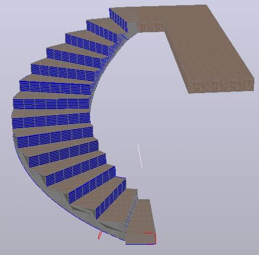 Planos de Eescalera elicoidal 3d, en Modelos de escaleras 3d – Escaleras