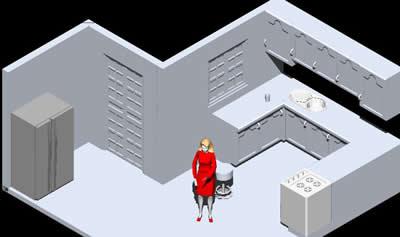 Planos de Ejercicio 3d cocina, en Proyectos varios – Proyectos