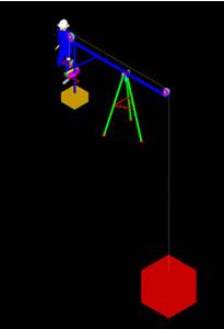 imagen Elevador de carga 3d, en Maquinaria - Obradores