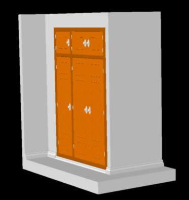 Planos de Empotrado – puerta de placard, en Dormitorios – Muebles equipamiento