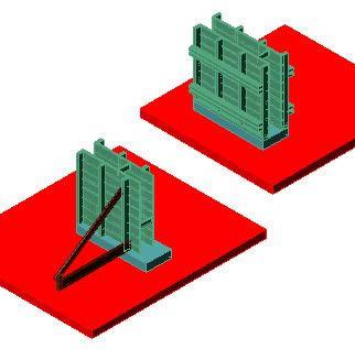 imagen Encofrado de muro muro 3d, en Encofrados deslizantes - Detalles constructivos