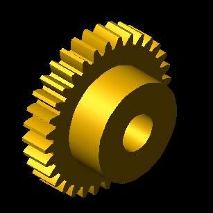 imagen Engranaje 3d, en Maquinaria - proyectos varios - Máquinas instalaciones