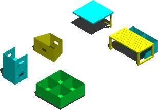 imagen Equipamiento 3d para guarderia o jardin de infantes, en Jardín de infantes - Muebles equipamiento