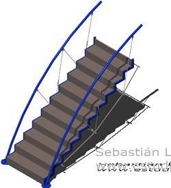 Planos de Escalera 3d de foster and partners con materiales aplicados, en Modelos de escaleras 3d – Escaleras