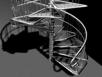 imagen Escalera caracol 3d, en Estanterías y modulares - Muebles equipamiento