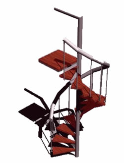 Planos de Escalera caracol 3d, en Modelos de escaleras 3d – Escaleras