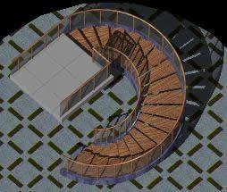 Planos de Escalera caracol, en Modelos de escaleras 3d – Escaleras