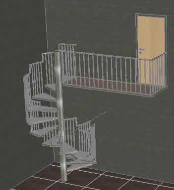 imagen Escalera caracol, en Modelos de escaleras 3d - Escaleras