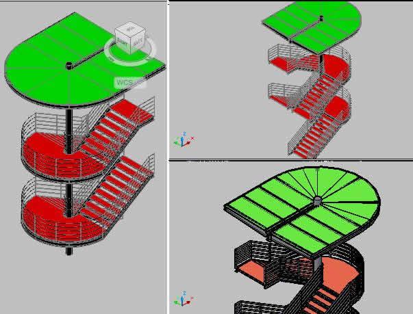 Planos de Escalera de acero, en Estructuras de acero – Detalles constructivos