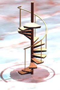 Planos de Escalera de caracol, en Modelos de escaleras 3d – Escaleras