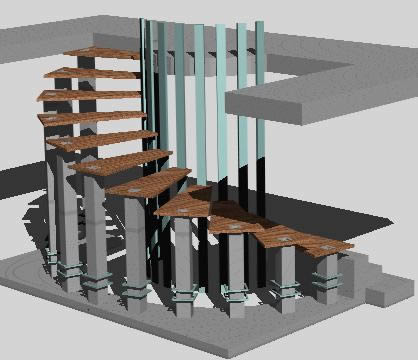 Planos de Escalera de madera 3d, en Modelos de escaleras 3d – Escaleras