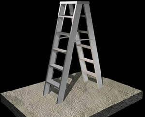 Planos de Escalera de tijera, en Modelos de escaleras 3d – Escaleras