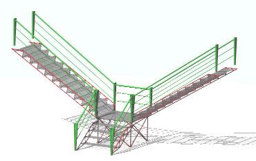 Planos de Escalera de vidrio 3d, en Modelos de escaleras 3d – Escaleras