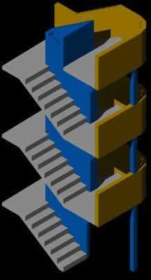 Planos de Escalera en 3d, en Modelos de escaleras 3d – Escaleras