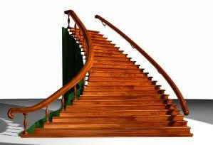 Planos de Escalera en 3d – materiales aplicados, en Modelos de escaleras 3d – Escaleras