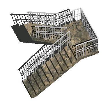 Planos de Escalera en u en 3d, en Modelos de escaleras 3d – Escaleras