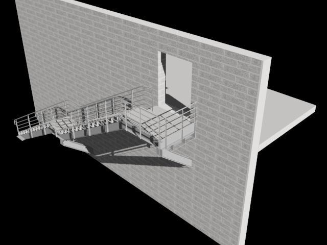 imagen Escalera metálica 3d, en Modelos de escaleras 3d - Escaleras