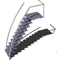 Planos de Escalera metalica 3d, en Modelos de escaleras 3d – Escaleras