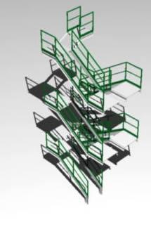 imagen Escalera peldaños atornillados 3d, en Modelos de escaleras 3d - Escaleras