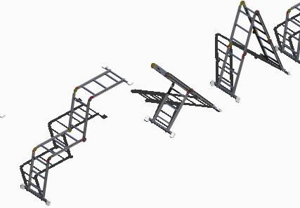 Planos de Escalera plegable 3d, en Modelos de escaleras 3d – Escaleras