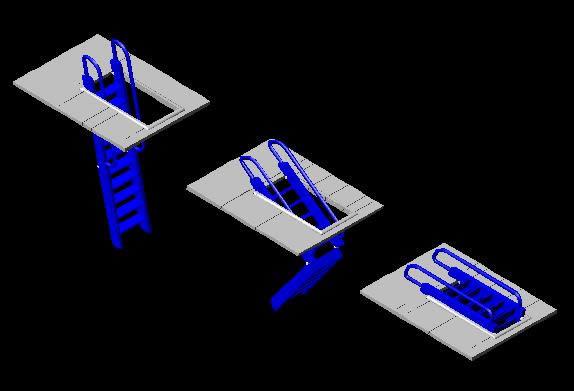 Planos de Escalera plegable en 3d, en Modelos de escaleras 3d – Escaleras