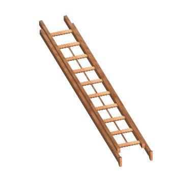 imagen Escalera portatil en 3d, en Modelos de escaleras 3d - Escaleras