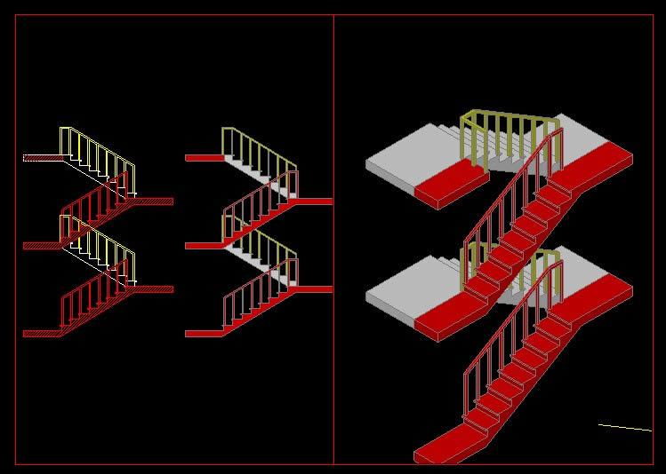 Planos de Escalera  seccion, en Modelos de escaleras 3d – Escaleras