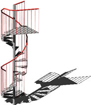 Planos de Escaleras caracol, en Modelos de escaleras 3d – Escaleras