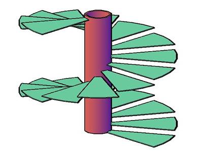 Planos de Escaleras en forma de caracol 3d, en Modelos de escaleras 3d – Escaleras