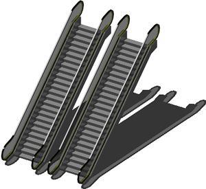 Planos de Escaleras mecanicas 3d con materiales aplicados, en Modelos de escaleras 3d – Escaleras