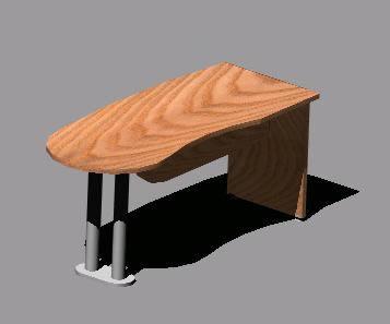 imagen Escitorio peninsular de 1.7m, en Escritorios - Muebles equipamiento