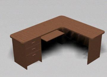 imagen Escritorio 3d, en Escritorios - Muebles equipamiento